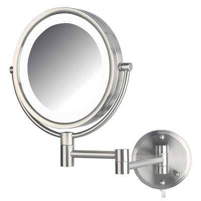 Dual Sided Wall Mount Lighted Mirror by Jerdon