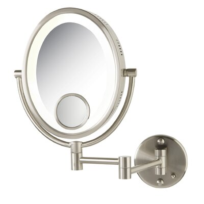 Halo Wall Mount Lighted Mirror by Jerdon