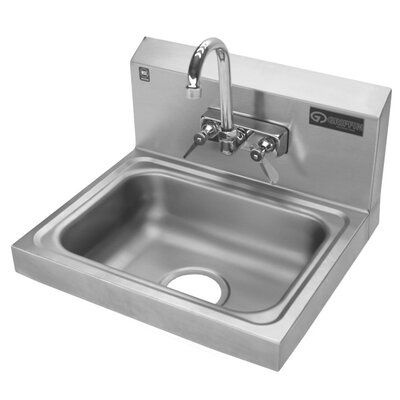 """Griffin 17.25"""" x 15.25"""" Single Hand Wash Sink with Faucet"""