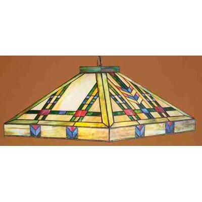 Mission Southwest Prairie 3 Light Pool Table Light by Meyda Tiffany
