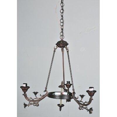 Victorian Foral 5 Light Arm Chandelier by Meyda Tiffany