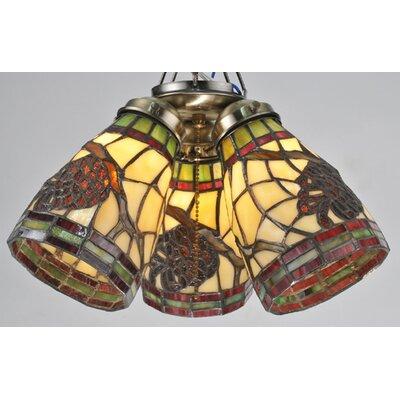 "Meyda Tiffany 4.5"" Pinecone Glass Bell Ceiling Fan Fitter Shade"