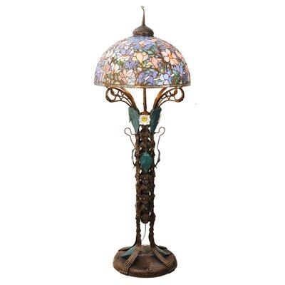 Meyda Tiffany Tiffany Magnolia Nouveau Floral Floor Lamp