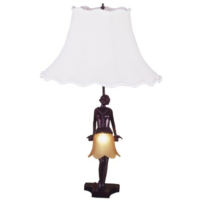 "Meyda Tiffany Silhouette 30's Lady 26"" H Table Lamp with Bell Shade"