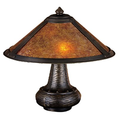"Meyda Tiffany Rustic Van Erp 14"" H Table Lamp with Cone Shade"
