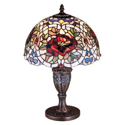 "Meyda Tiffany Renaissance Rose 18"" H Table Lamp with Bowl Shade"