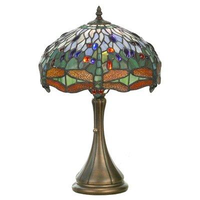 """Meyda Tiffany Tiffany 18.5"""" H Table Lamp with Bowl Shade"""