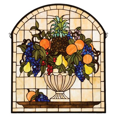 Meyda Tiffany Victorian Fruitbowl Stained Glass Window