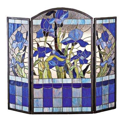 Meyda Tiffany Iris 3 Panel Fireplace Screen
