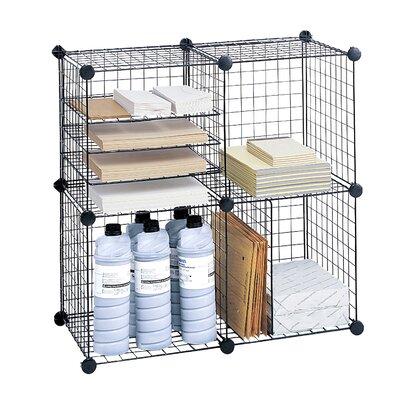 Safco Wire 5 Shelf Cube Unit