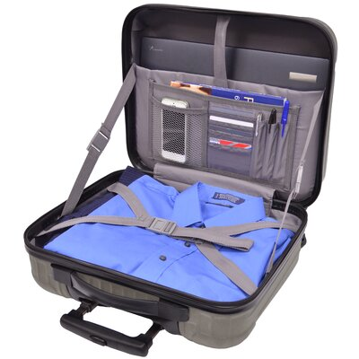 U.S. Traveler Beauvais Carry-On Spinner Laptop Attache Case