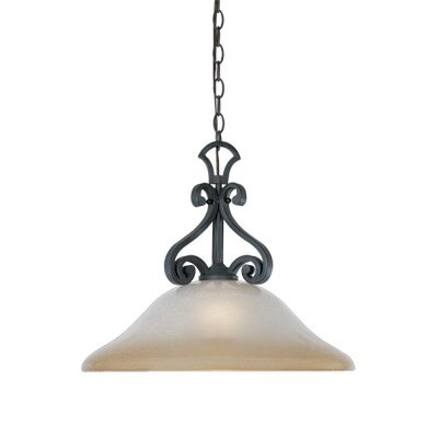 Designers Fountain Barcelona 1 Light Down Light Inverted Pendant
