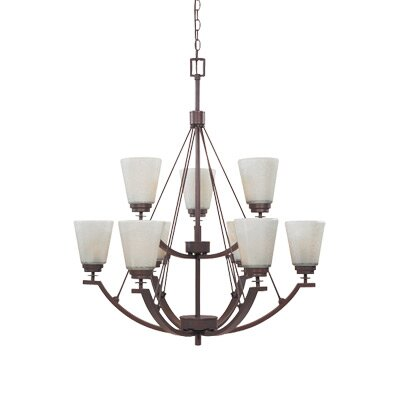 Harlow Nine Light Chandelier in Tuscana by Designers Fountain
