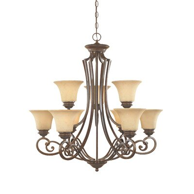 Mendocino 9 Light Chandelier by Designers Fountain