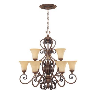 Montreaux 9 Light Chandelier by Designers Fountain