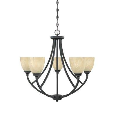 Designers Fountain Tackwood 5 Light Chandelier