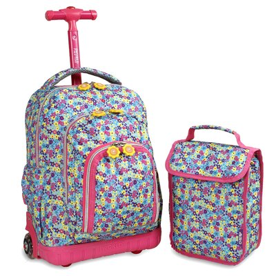 Lollipop Kid's Rolling Backpack with Lunch Bag by J World