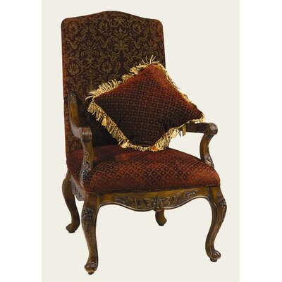 Arm Chair with Matching Pillow in Medium Brown by AA Importing