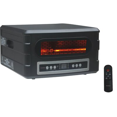 Advanced Tech Infrared 1,500 Watt Portable Electric Infrared Compact Heater with Remote Control