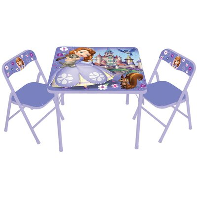 Sofia The First Kids Square Activity Table Set by Kids Only