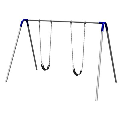 UPlay Today Single Bay Swing Set with Commercial Strap Seats Product Photo