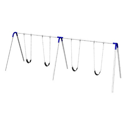 UPlay Today Double Bay Swing Set with Commercial Strap Seats Product Photo