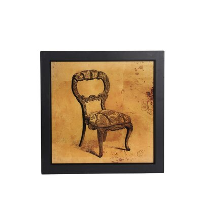 Vintage Chair Framed Wall Art by Privilege