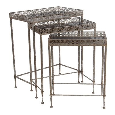 3 Piece Iron Nesting Tables by Privilege