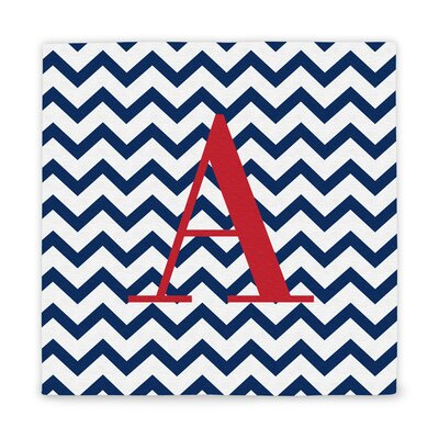 Chevron Initial Wrapped Canvas by Cathys Concepts