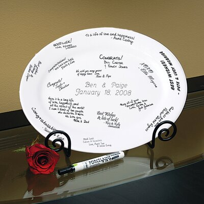 Personalized Guest Book Platter by Cathys Concepts