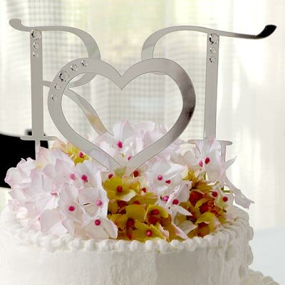 Cathys Concepts Rhinestone Heart Cake Topper