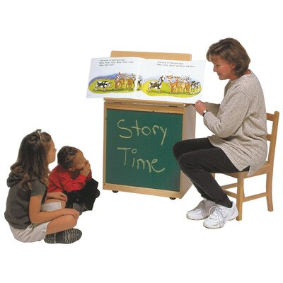 Steffy Wood Products Big Book Easel Storage Chalkboard