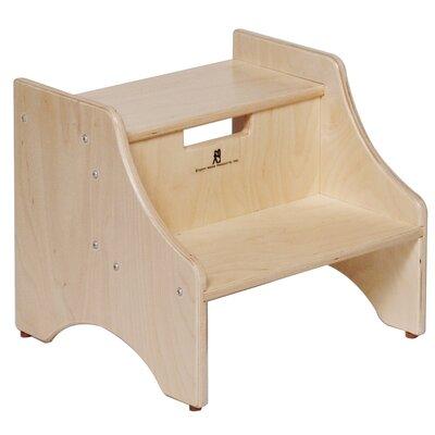 Steffy Wood Products 2-Step 11-Ply Birch Veneer Plywood Children's Step Stool