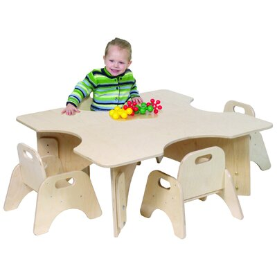 """Steffy Wood Products Infant-Toddler 36"""" Four Cutout Classroom Table"""