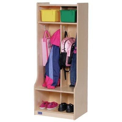 Steffy Wood Products 1 Tier 2-Section Seat tep Locker