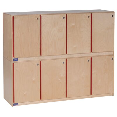 Steffy Wood Products 1 Tier 4-Section  Stackable Locker