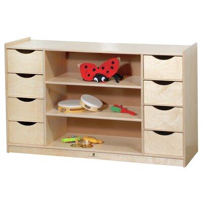 Steffy Wood Products Eight Drawer Storage Unit