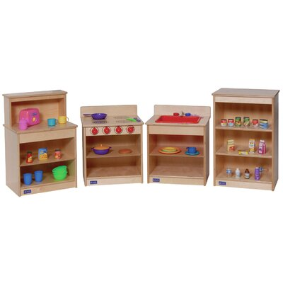Steffy Wood Products Toddler Kitchen Shelves