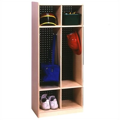 Steffy Wood Products 1 Tier 2-Section Locker