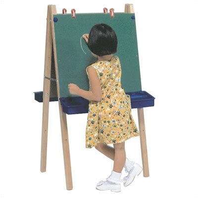 Steffy Wood Products Two Station Chalkboard Easel