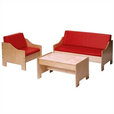 Steffy Wood Products Kids 3 Piece Table and Chair Set