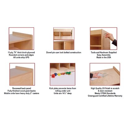 Steffy Wood Products 1 Tier 5-Section Locker