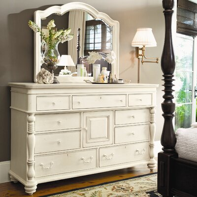Paula Deen Home Steel Magnolia 9 Drawer Combo Dresser With Mirror Reviews Wayfair