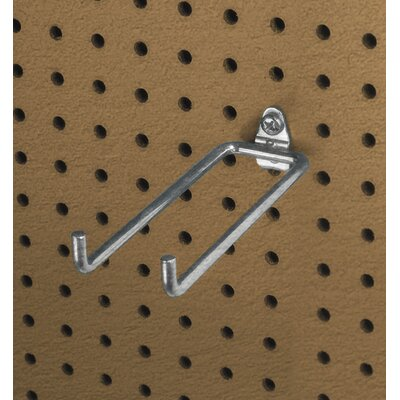 Triton Products DuraHook 5-3/4 In. Double Rod 80 Degree Bend 1/4 In. Dia. Zinc Plated Steel Pegboard Hook for DuraBoard, 10 Pack