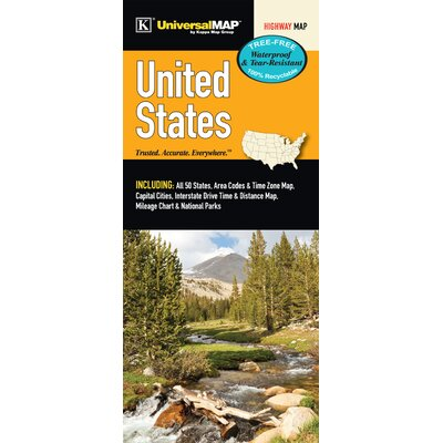 United States Waterproof Map by Universal Map