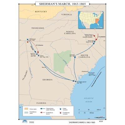 Universal Map U.S. History Wall Maps - Sherman's March