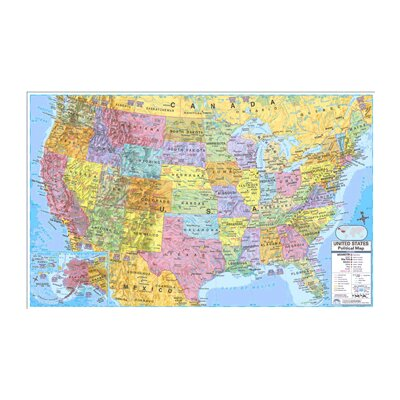 Us & World Politcal Rolled Map Set by Universal Map