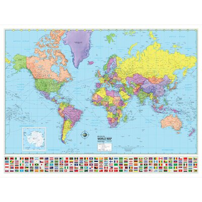 World Advanced Political Map by Universal Map