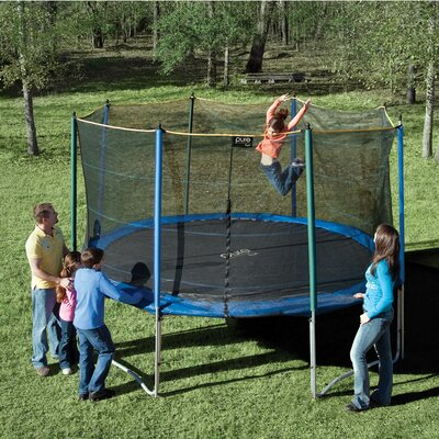 12' Round Trampoline with Enclosure Product Photo