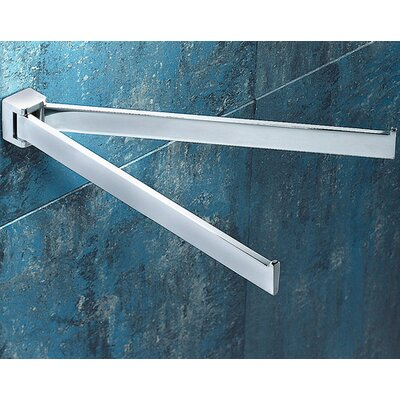Gedy by Nameeks Glamour Wall Mounted Jointed Double Towel Bar